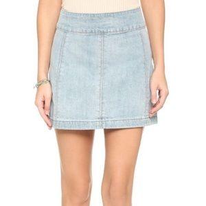 Zip to It Denim Mini Skirt from Free People
